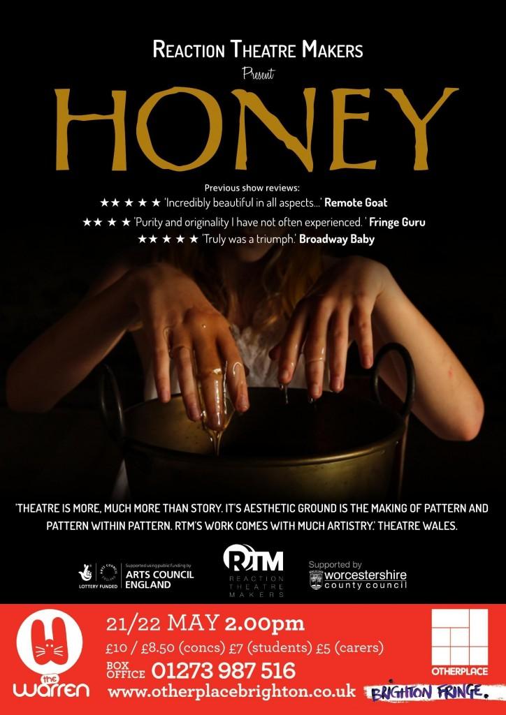 SoJo Designs Malvern Honey Poster Brighton Fringe